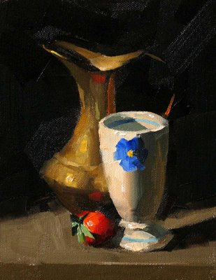 """Strawberry"" original fine art by Qiang Huang"