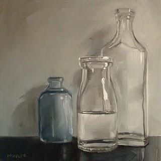 """Half Full (challenge painting)"" original fine art by Michael Naples"