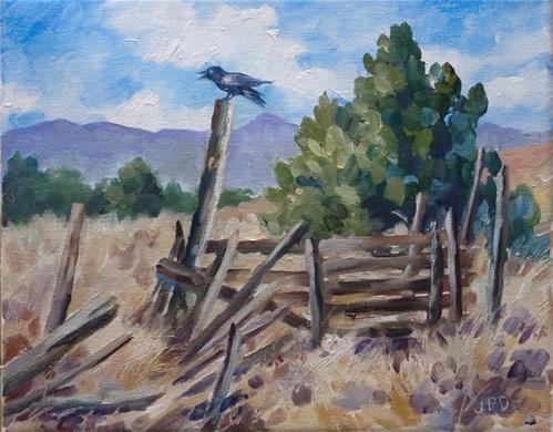"""""""Raven"""" original fine art by Jean Pierre DeBernay"""