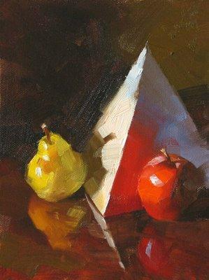"""Fruit Pyramid"" original fine art by Qiang Huang"