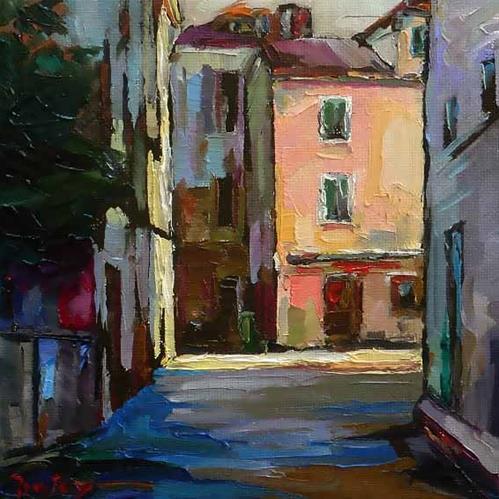 """city in the south"" original fine art by Jurij Frey"