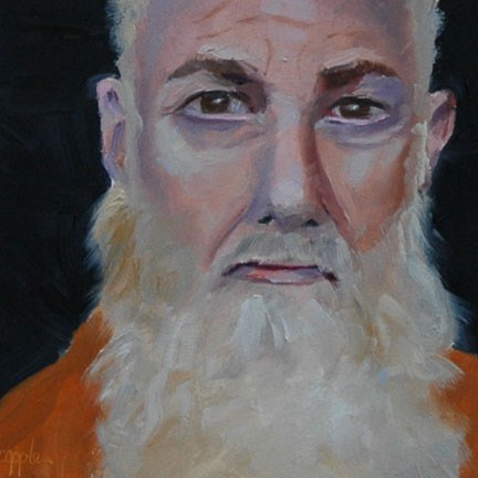 """""""FACE No. 93"""" original fine art by Linda Popple"""
