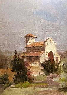 """""""Chapel Dulcinea --- Sold"""" original fine art by Qiang Huang"""