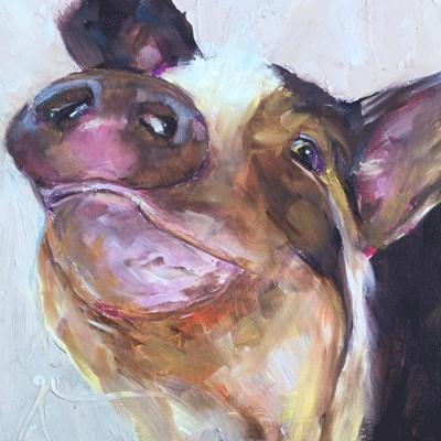 """""""Pig"""" original fine art by Gigi ."""
