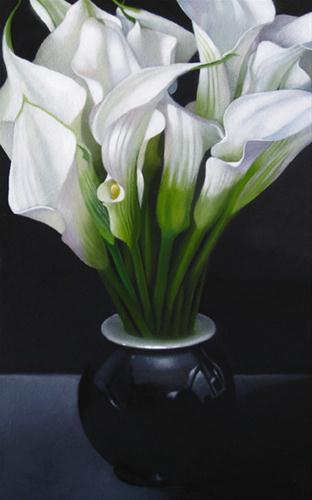 """Lily 5x8"" original fine art by M Collier"