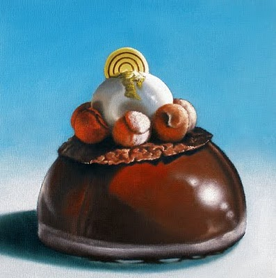 """Triple Chocolate Study"" original fine art by Jelaine Faunce"