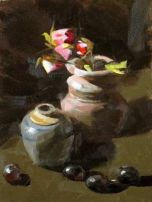 """""""Two Pots"""" original fine art by Qiang Huang"""