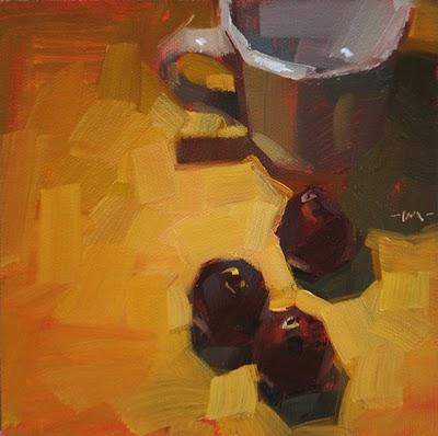 """""""Following Figs"""" original fine art by Carol Marine"""