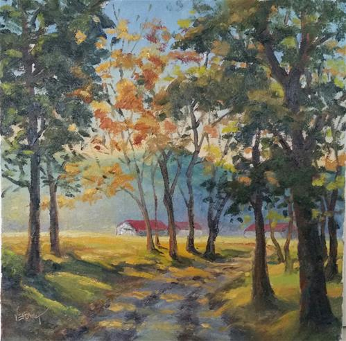 """Sunrise at Huzzah Valley"" original fine art by Veronica Brown"