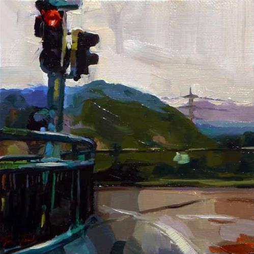 """""""die Ausfahrt"""" original fine art by Jurij Frey"""