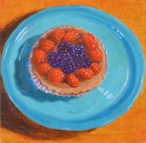 """""""A Berry Tasty Tart"""" original fine art by Robert Frankis"""