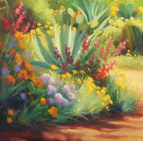 """Flowers Gone Wild"" original fine art by Sherri Aldawood"