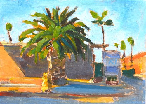 """Street, Ocean Beach"" original fine art by Kevin Inman"