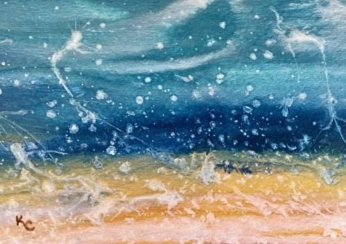 """ROYAL SPLASH-BEACH BASH SALE #3"" original fine art by Kimberly Conrad"