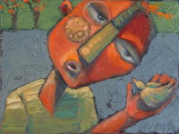 """""""Birdman"""" original fine art by Brenda York"""