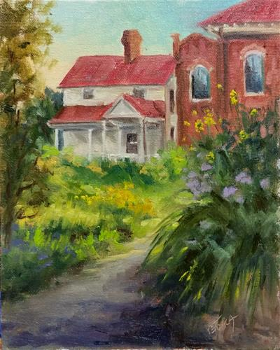 """Bascom House-en plein air"" original fine art by Veronica Brown"