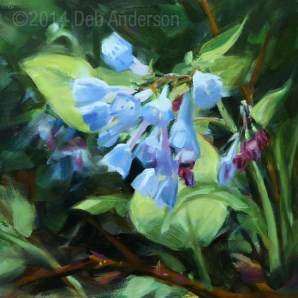 """Oil Painting: Bluebells"" original fine art by Deb Anderson"