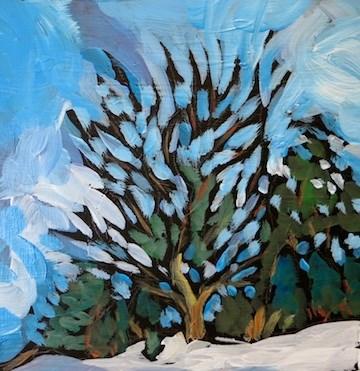 """Roadside Trees #8, Pilot Knob, Rosemount"" original fine art by Kat Corrigan"