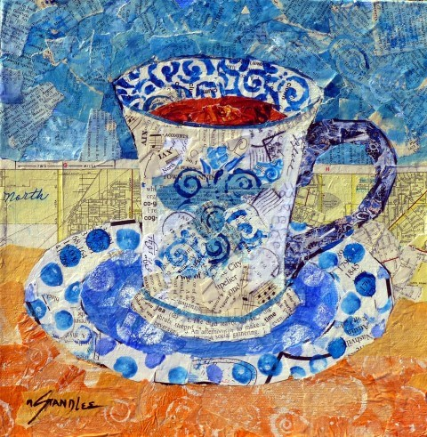 """Tea Time 13075 SOLD"" original fine art by Nancy Standlee"