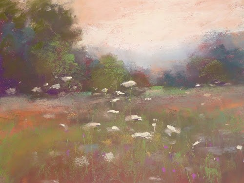"""Wildflower Meadow Original Pastel Painting"" original fine art by Karen Margulis"