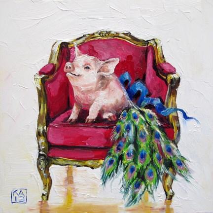 """one proud pig"" original fine art by Kimberly Applegate"