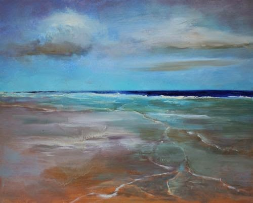 """""""Florida Beach, Beach and Ocean Paintings by Arizona Artist Amy Whitehouse"""" original fine art by Amy Whitehouse"""