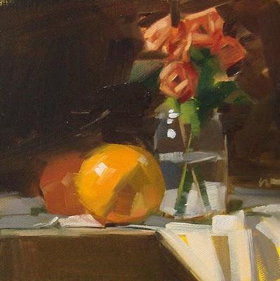 """Grapefruitarama"" original fine art by Carol Marine"