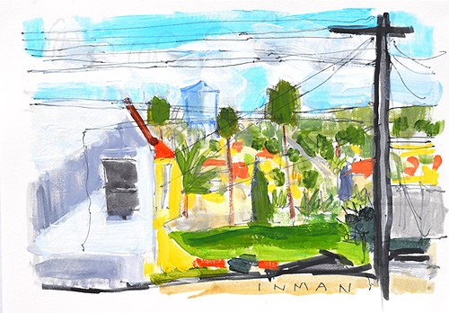 """""""The View From The Laundromat"""" original fine art by Kevin Inman"""