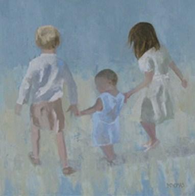 """My Three"" original fine art by Donna Thomas"