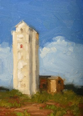 """Ivory Tower"" original fine art by Laurel Daniel"