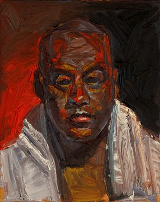 """Boxer K"" original fine art by Raymond Logan"