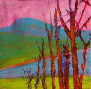 """Mary's Peak 9"" original fine art by Pam Van Londen"