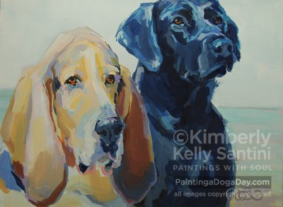 """Gus and Darlin"" original fine art by Kimberly Santini"