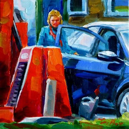 """you cleaning them"" original fine art by Jurij Frey"