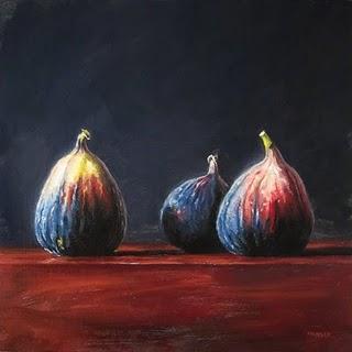 """Three Figs"" original fine art by Michael Naples"