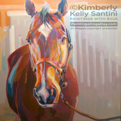 """JT, Finished"" original fine art by Kimberly Santini"