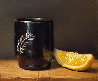 """""""Chilean Cup with Lemon Wedge"""" original fine art by Abbey Ryan"""