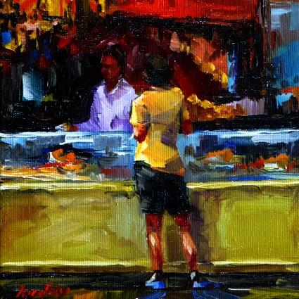 """""""the baker"""" original fine art by Jurij Frey"""