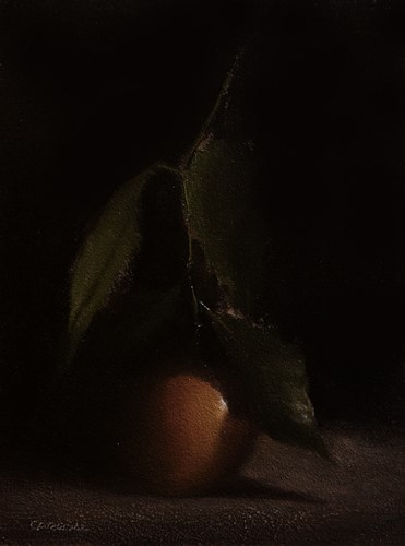 """Clementine with Leaf"" original fine art by Neil Carroll"