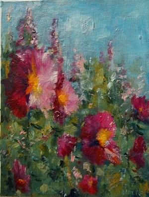 """Pink Ladies of Summer #1"" original fine art by Alice Harpel"