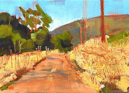 """Laguna Canyon Landscape"" original fine art by Kevin Inman"