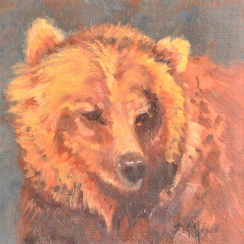 """Grizzly"" original fine art by Susan Matteson"