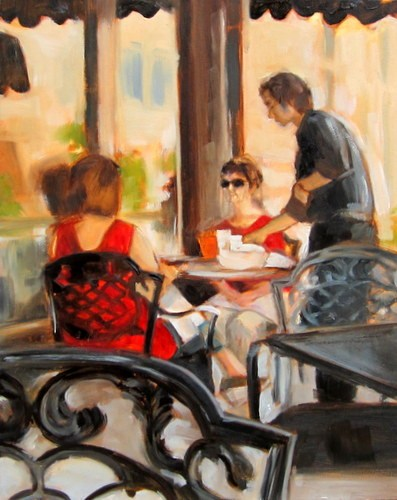 """Lunch Reflections"" original fine art by Sandy Haynes"