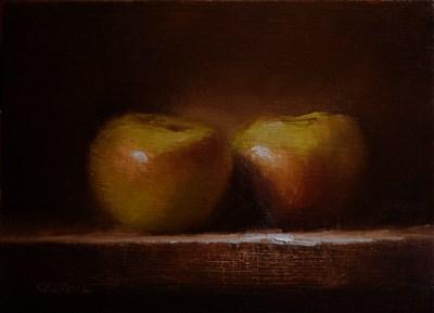 """Bramley Apples"" original fine art by Neil Carroll"