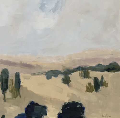 """""""Off Oak Grove Road"""" original fine art by Pamela Munger"""
