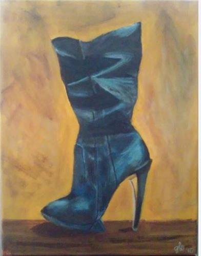 """""""Boot it"""" original fine art by Gerri Obrecht"""