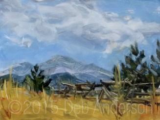 """""""Oil Painting: Split Rail to Longs Peak"""" original fine art by Deb Anderson"""