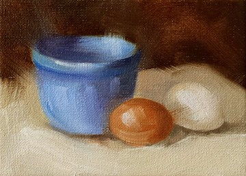 """Bowl and Eggs"" original fine art by Cindy Haase"