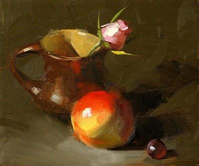 """Rose Bud --- Sold"" original fine art by Qiang Huang"