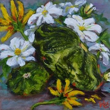 """""""summer squash"""" original fine art by wendy black"""